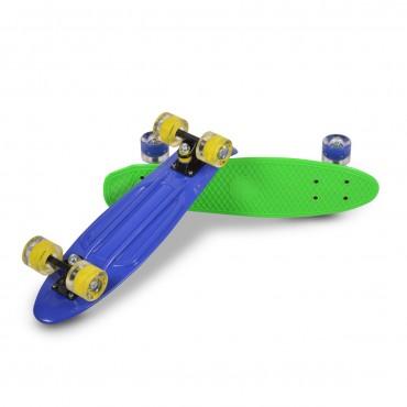"BYOX Skateboard PP Spice 22"" Blue"