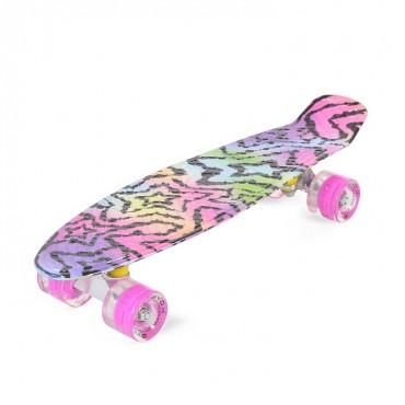"Byox Plastic Skateboard 22"" with LED Stars 3800146226961"