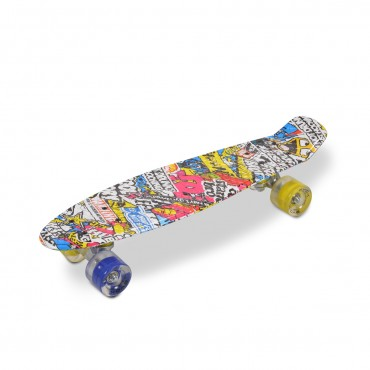 "Moni plastic Fish Skateboard, Hipster 22"""