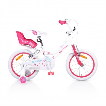 "Byox Children's Bicycle 16 "" Little Princess White"