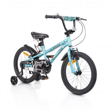 """Byox children's bicycle 18"""" V-Brake Pixy Green"""