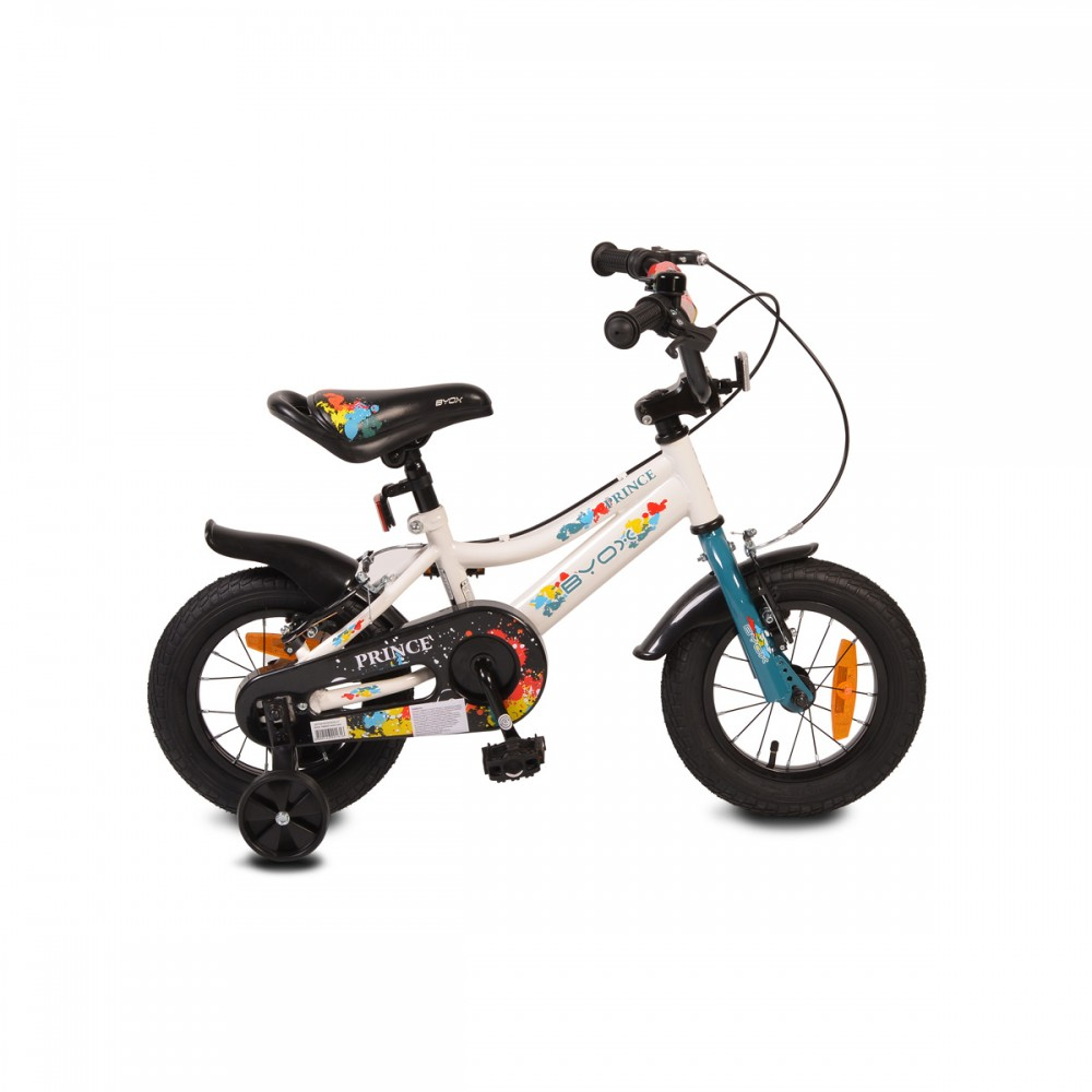 Byox children's bicycle 12'' Prince White New