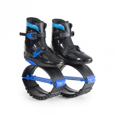 Byox Jump Shoes with T-springs, XL (39-41) 60-80 KGS Blue