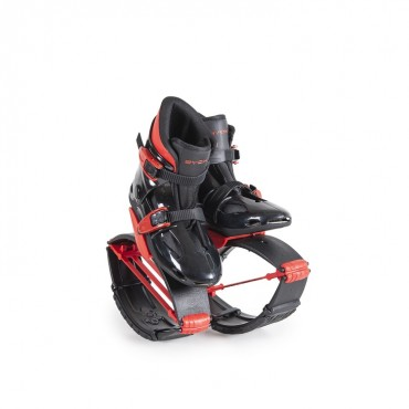 Byox Jump Shoes with T-springs, S (30-32) 20-30 KGS Red