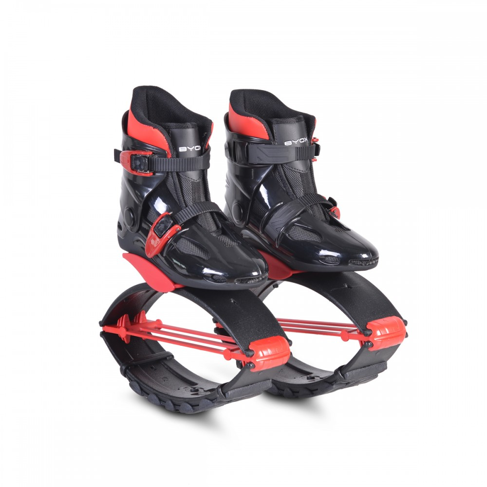 Byox Jump Shoes withT-springs, M (33-35) Red