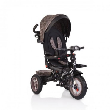 Byox reversible tricycle with air wheels and music, Jockey Beige Stars