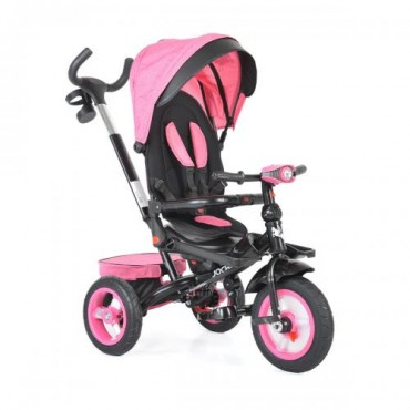 Byox reversible tricycle with air wheels and music, Jockey Pink