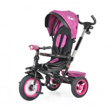 Byox reversible tricycle with air wheels and music, Jockey Purple