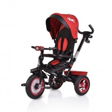 Byox reversible tricycle with air wheels and music, Jockey Dark Red