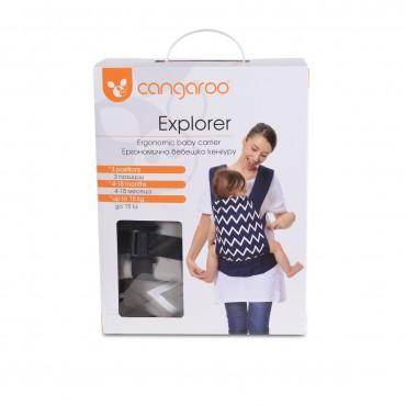 Cangaroo Ergonomic carrier Explorer Blue, 3800146267117
