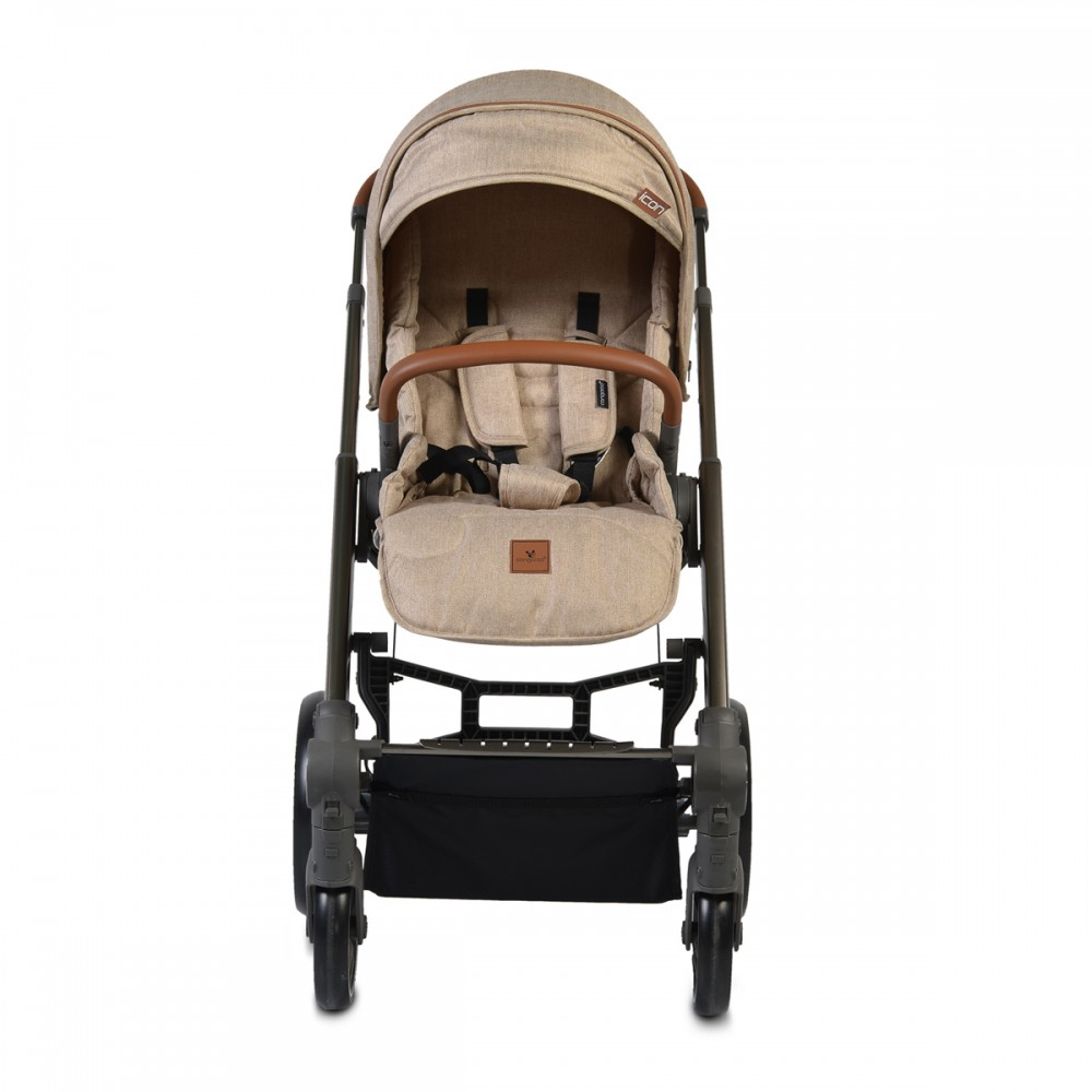 Cangaroo Baby Stroller 3 in 1  with carrycot and car seat ,Icon Beige