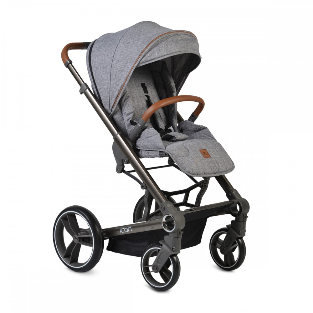 Cangaroo Baby Stroller 3 in 1 with carrycot and car seat ,Icon Grey