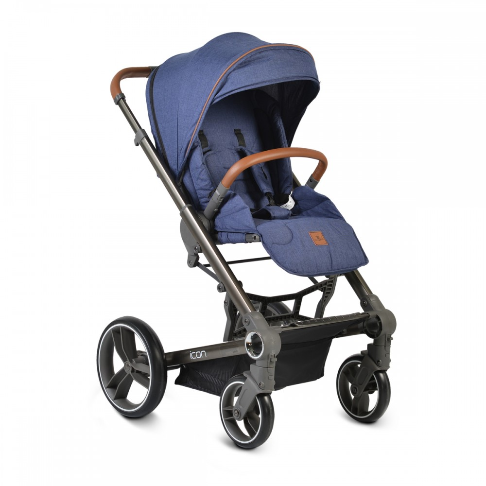 Cangaroo Baby Stroller 3 in 1  with carrycot and car seat ,Icon Jeans