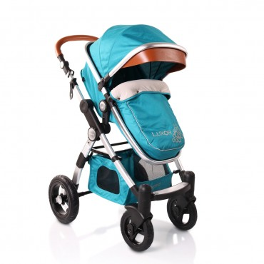 Cangaroo Luxor Beige 2 in 1 reversible combined baby stroller ,Luxor Turquoise