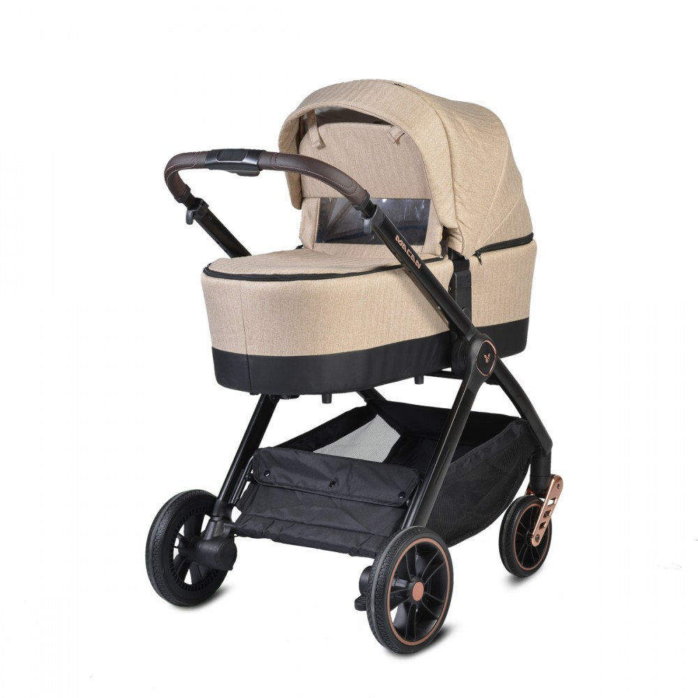 Cangaroo Baby Stroller 3 in 1  with carrycot and car seat ,Macan Beige