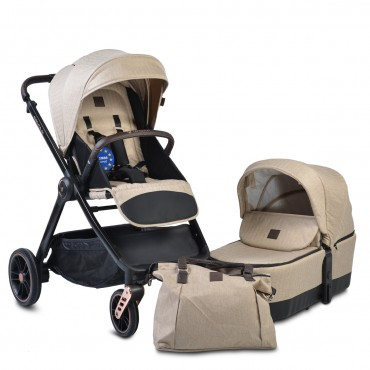 Cangaroo Baby Stroller with carrycot ,Macan Beige