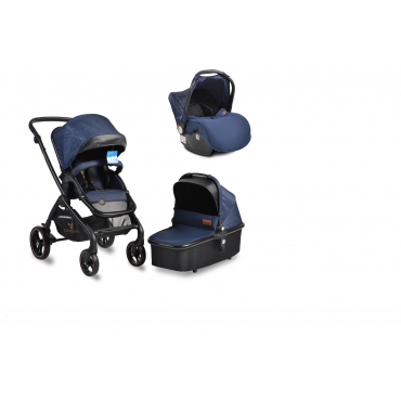 Cangaroo Baby Stroller 3 in 1 with carrycot and car seat ,Mira Blue
