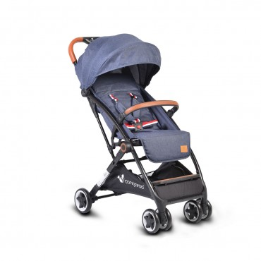Cangaroo Baby Stroller with aluminium frame and footcover  Paris Denim