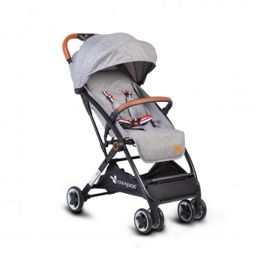 Cangaroo Baby Stroller with aluminium frame and footcover Paris Grey