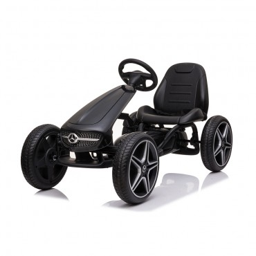 Cangaroo Clildren Go Kart Αυτοκινητάκι with pedals Mercedes Benz Black