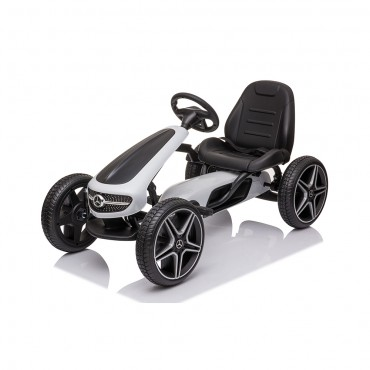 Cangaroo Children  Go Kart with pedals Mercedes Benz White