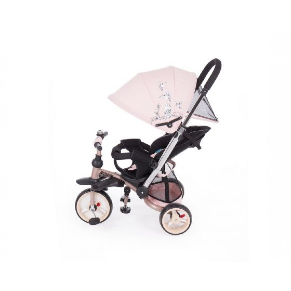 Kikkaboo children's tricycle 3 in 1 Vetta Pink Melange Birds, 31006020079