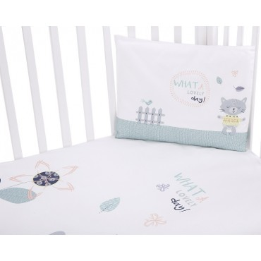 Kikkaboo Baby Bedding set 3 pieces, Cat Lovely Day 41101030094