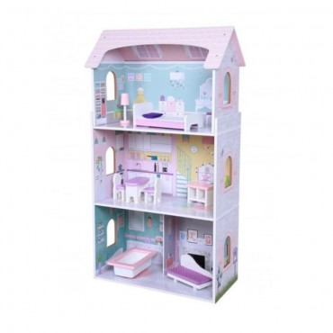 Moni Wooden dollhouse with furniture Anna, 4121