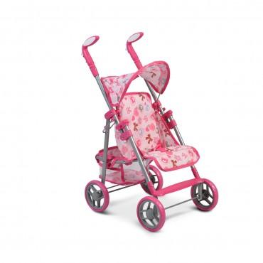 Moni Stroller for dolls Flower Garden Pink