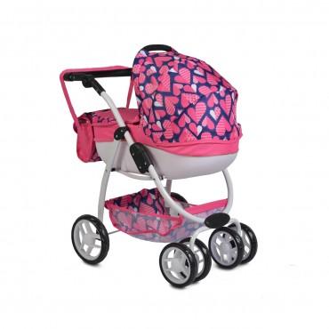 Moni Doll Stroller Polly Pink 9662