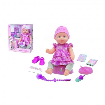 Baellar Doll 41cm with soother WZJ029-520, 3800146265106
