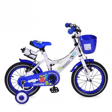 "Moni Children's bicycle V-Brake 14"" Blue, 1481"