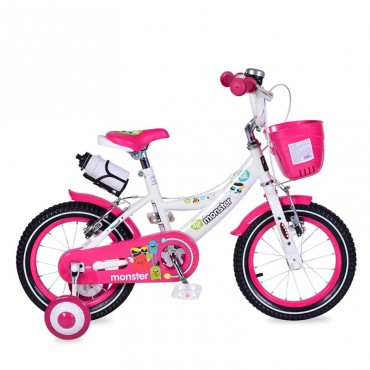 "Moni Children's bicycle V-Brake 14"" Pink, 1481"