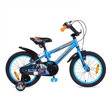 "Byox children's bicycle  V-Brake 16"" Monster Blue"