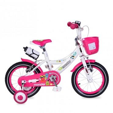 "Moni Children's bicycle V-Brake 16"" 1681 Pink"