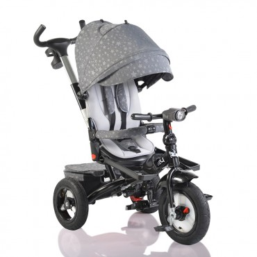 Byox reversible tricycle with air wheels and music, Jockey Grey Stars