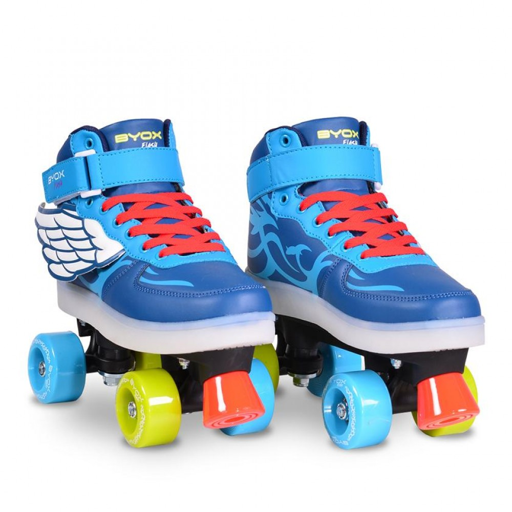 BYOX Roller skates with LED rollers (quad) Flash L - (37-38)