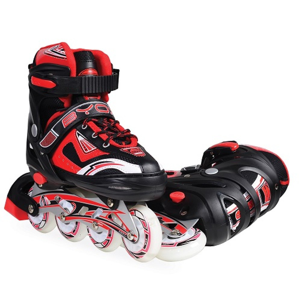 BYOX Adjustable Roller Skates In-Line and ice skates L 38-41 Iceberg 2 in 1