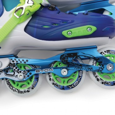 BYOX Adjustable Roller Skates In-Line L 36-39 JR1 Blue