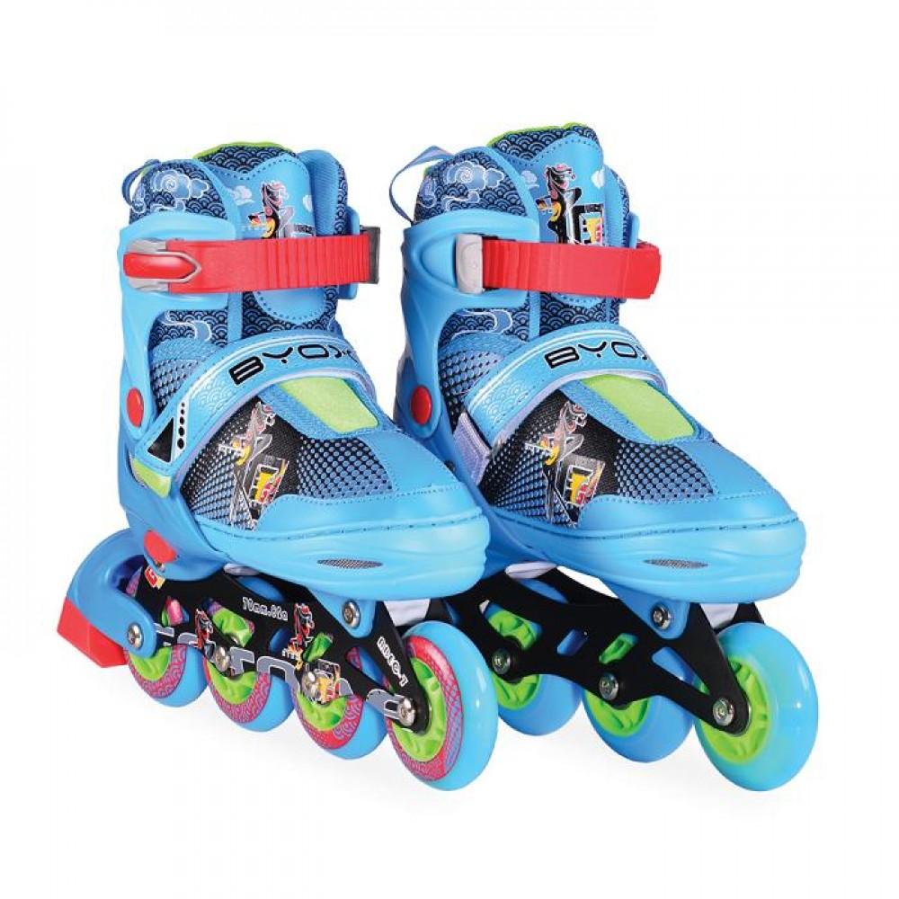 BYOX Adjustable Roller Skates In-Line M 34-37 Mask Blue