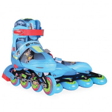 BYOX Adjustable Roller Skates In-Line S 30-33 Mask Blue