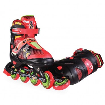 BYOX Adjustable Roller Skates In-Line L 38-41 Mask Black