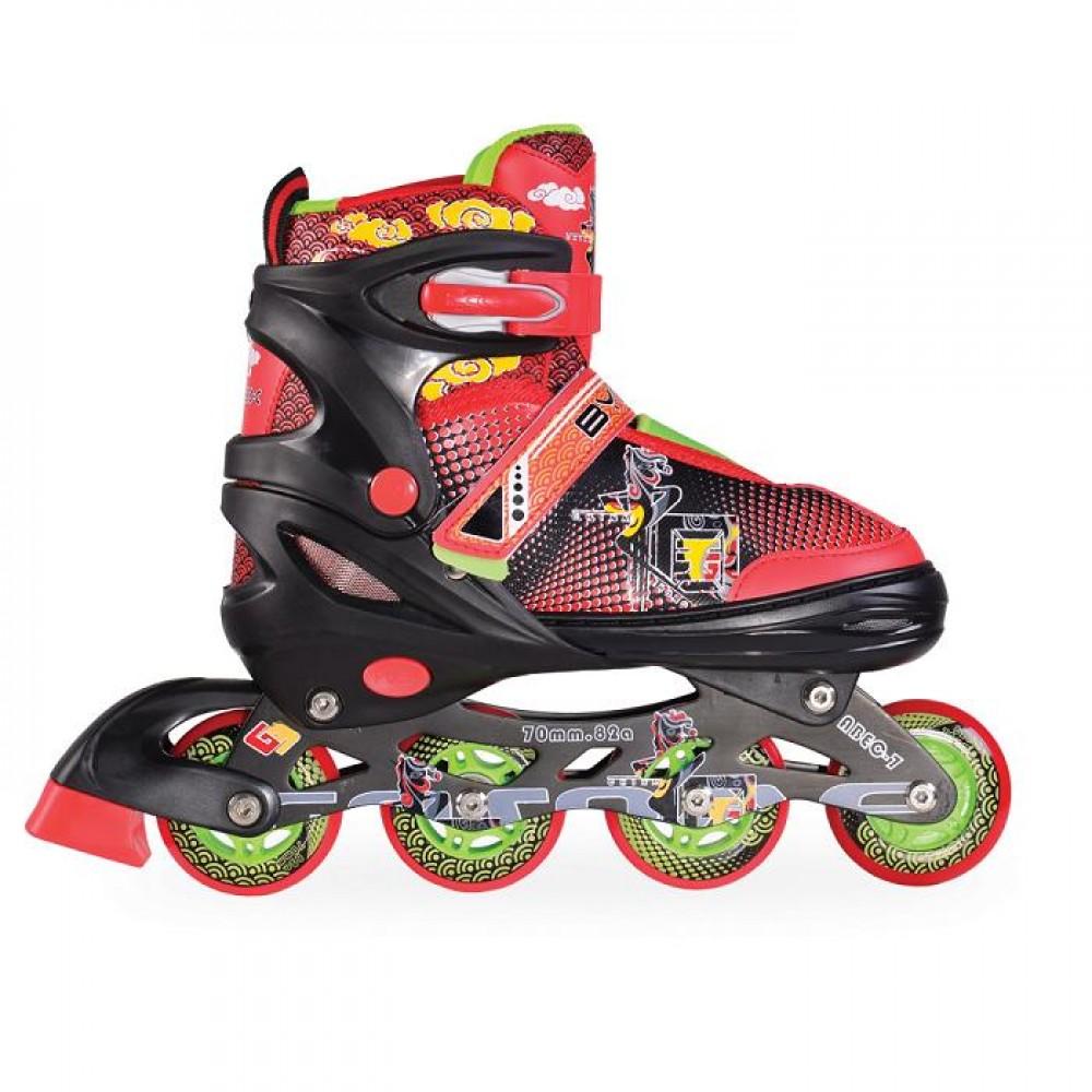 BYOX Adjustable Roller Skates In-Line L 38-41 Mask Black