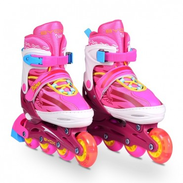 BYOX Adjustable Roller Skates In-Line M 34-37 Trina 3in1