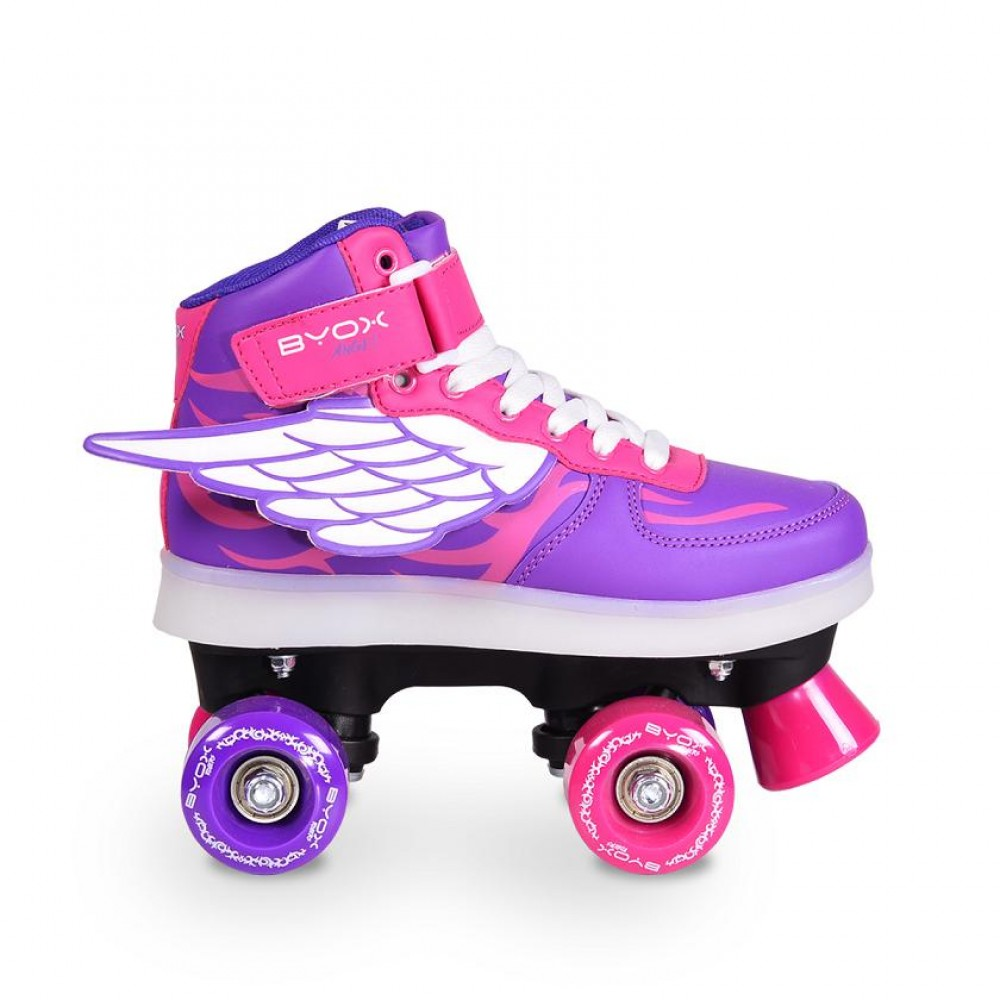 BYOX Roller Skates with LED rollers (quad)M35-36 Angel