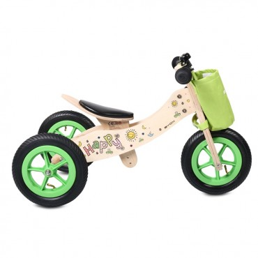 Byox Balance Wooden Bicycle 2 in 1 Be Happy