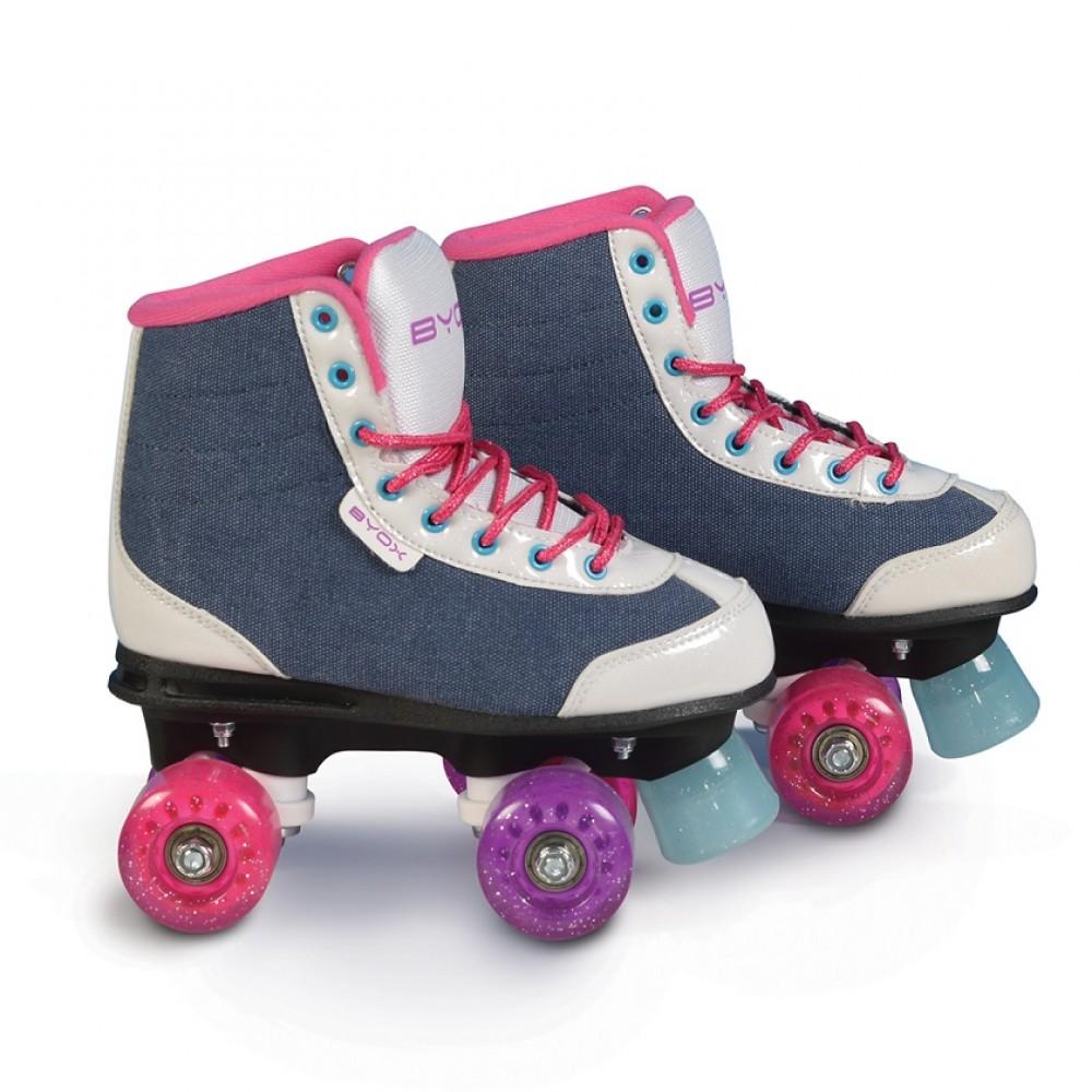 BYOX Roller Skates (quad) S32-33  Denim