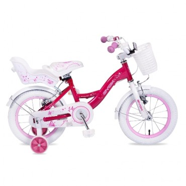 Byox children's bicycle 14'' Flower Pink