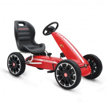 Byox Go Kart with Eva Soft  Wheels Abarth 500 Assetto Red