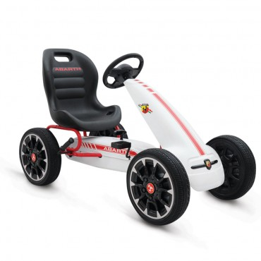 Byox Go Kart with Eva Soft  Wheels Abarth 500 Assetto White